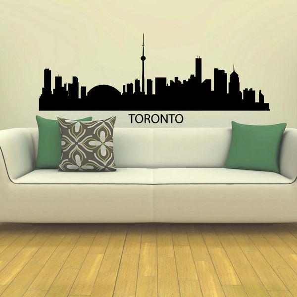 shop toronto skyline city silhouette vinyl wall art decal sticker