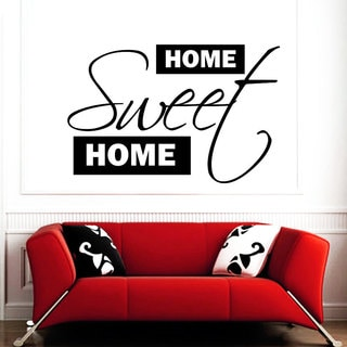 Traditional Home Sweet Home Sign Vinyl Sticker Wall Art