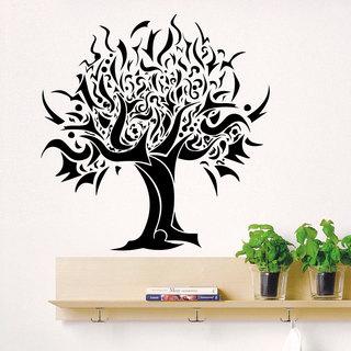 Tribal Cartoon Tree Vinyl Sticker Wall Art