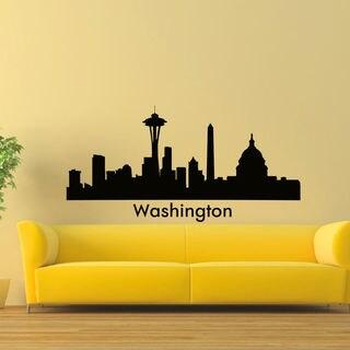 Washington Skyline City Silhouette Vinyl Wall Art Decal Sticker