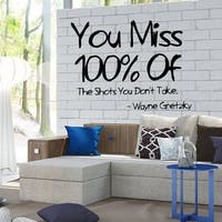 Wayne Gretzky Inspirational Quote Vinyl Sticker Wall Art