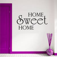 Welcome Sign Home Sweet Home Font Vinyl Sticker Wall Art