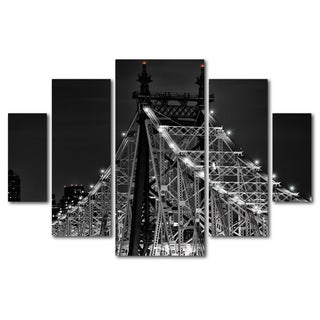 David Ayash 'Queensborough Bridge' 5 Panel Art Set