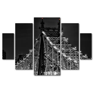 David Ayash 'Queensborough Bridge' 5 Panel Art Set|https://ak1.ostkcdn.com/images/products/10425935/P17524618.jpg?impolicy=medium