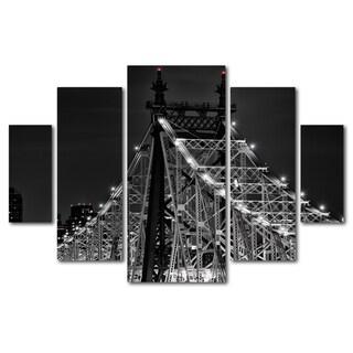 David Ayash 'Queensborough Bridge' 5 Panel Art Set