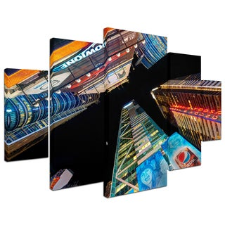 David Ayash 'Times Square NYC' 5 Panel Art Set