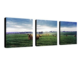 Preston 'Kentucky Sunrise I' 3-piece Art Set