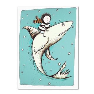 Carla Martell 'Fish Boy' Canvas Art