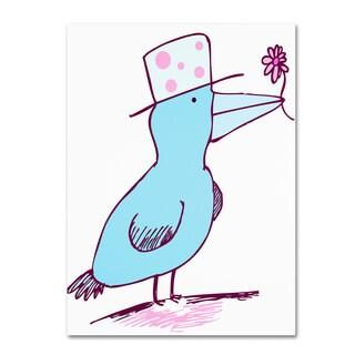 Carla Martell 'Flower Bird' Canvas Art