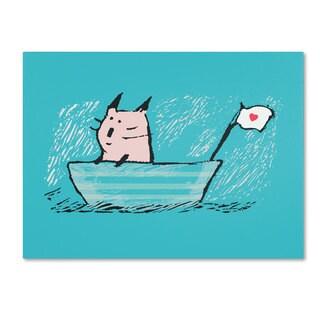 Carla Martell 'Sweet Sailor Cat' Canvas Art - Multi