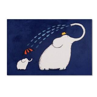 Carla Martell 'Umbrella Elephant' Canvas Art