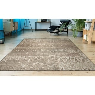 Couristan Afuera Country Cottage/ Beige-ivory Rug (6' x 9')