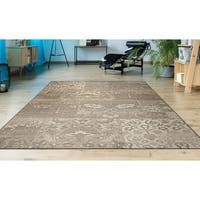 "Hampton Knoll Tan-Cream Indoor/Outdoor Area Rug - 6'6"" x 9'6"""
