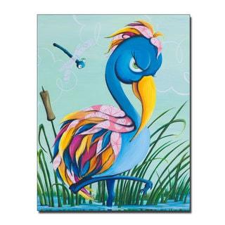 Sylvia Masek 'Showbird' Canvas Art