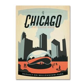 Anderson Design Group 'Chicago Cloud Gate' Canvas Art