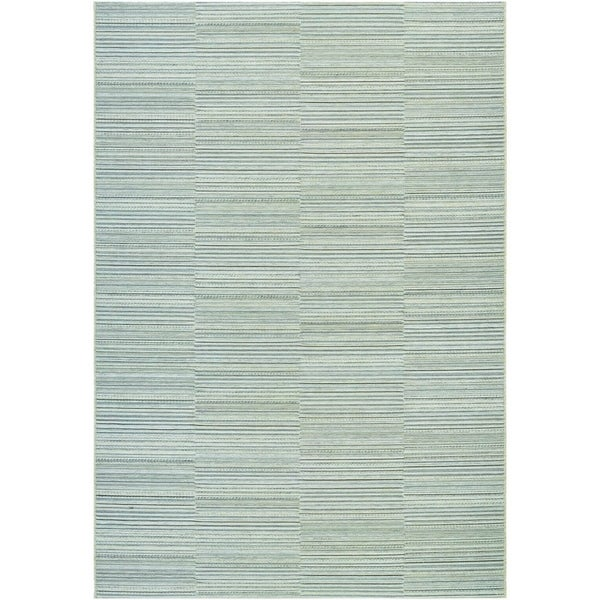 Couristan Cape Hyannis/Gold-Light Blue Indoor/Outdoor Area Rug - 6'6 x 9'6