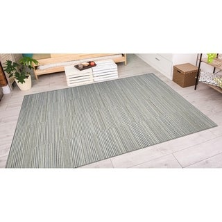 Couristan Cape Hyannis/ Gold-lt Blue Rug (6' x 9')