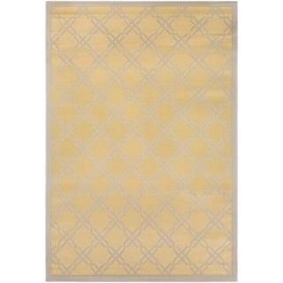 Couristan Five Seasons Sun Island/ Gold-cream Rug (6' x 9')