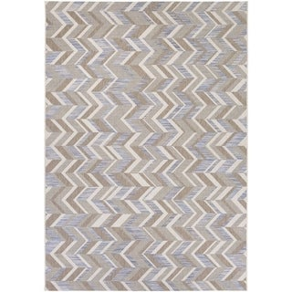 Couristan Tides Shelter Island/ Blue-Grey Rug (5'3 x 7'6)