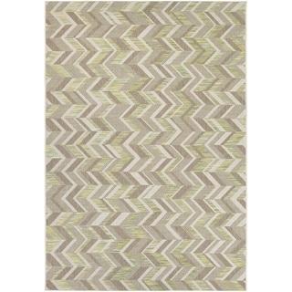 Couristan Tides Shelter Island/ Lemon Grass-Grey Rug (5'3 x 7'6)