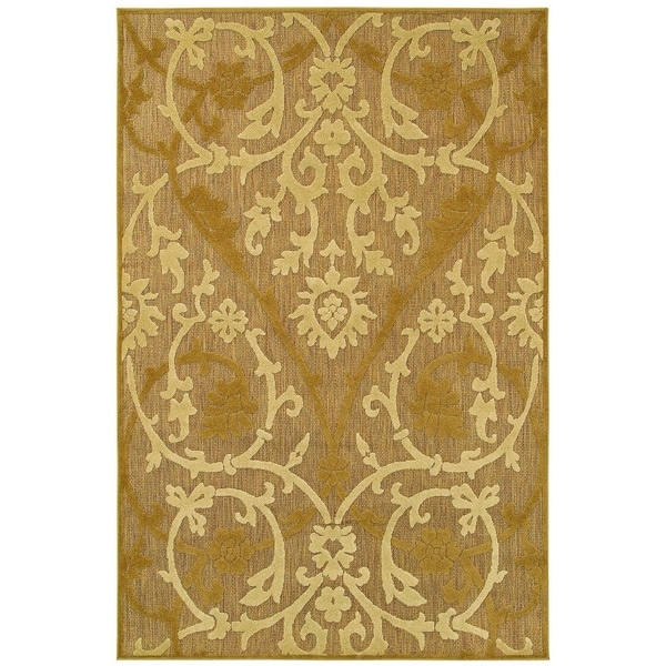 Couristan Urbane Astor/Beige-Tan Indoor/Outdoor Area Rug - 6'3 x 9'2
