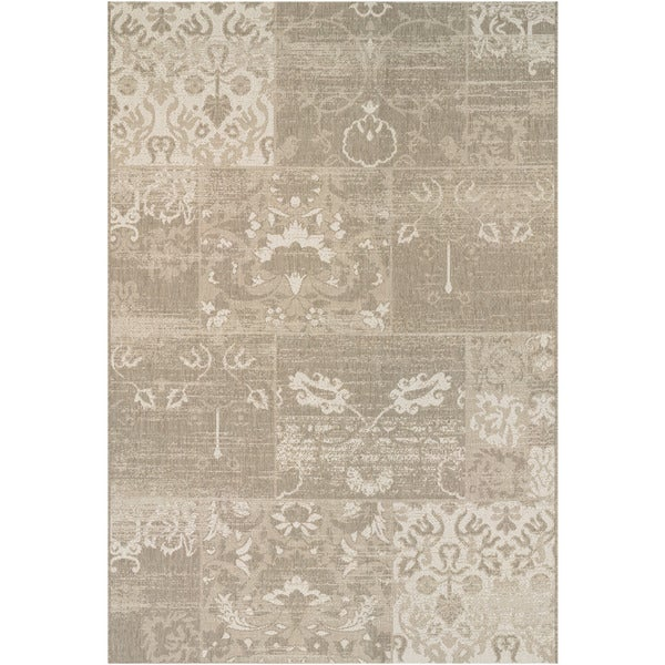 "Hampton Knoll Tan-Cream Indoor/Outdoor Area Rug - 9'2"" x 12'5"""