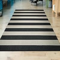 """Couristan Afuera Yacht Club/ Onyx-ivory Indoor/Outdoor Rug - 9'2"""" x 12'5"""""""