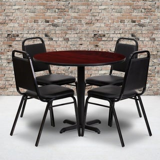 Trapezoidal 5 Piece Round Dining Set