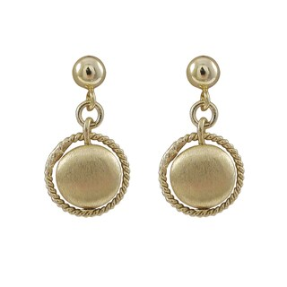 Luxiro Gold Finish Brushed Coin Circle Dangle Earrings|https://ak1.ostkcdn.com/images/products/10426286/P17524847.jpg?_ostk_perf_=percv&impolicy=medium