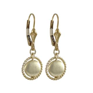 Luxiro Gold Filled Brushed Coin Circle Dangle Earrings|https://ak1.ostkcdn.com/images/products/10426292/P17524848.jpg?impolicy=medium