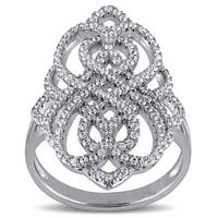 Miadora Sterling Silver Cubic Zirconia Infinity Ring - White