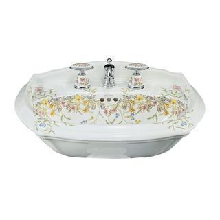 Kohler English Trellis 7-1/4 in. Pedestal Sink Basin in White