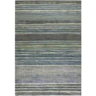 Couristan Easton Vibrato/ Tan-teal Rug (9' x 12')