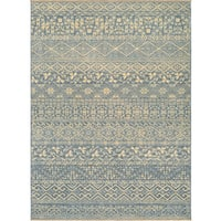 Couristan Elegance Ophelia Azure-tan Wool Rug (9'10 x 12'11)