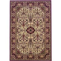 "Couristan Everest Ardebil Ivory-red Area Rug - 9'2"" x 12'5"""