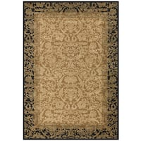 "Couristan Everest Fontana/ Gold-black Rug - 9'2"" x 12'5"""