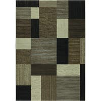 "Couristan Everest Geometrics/ Brown-Multi Rug - 9'2"" x 12'5"""
