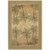 "Couristan Everest Palm Tree/ Desert Sand Rug - 9'2"" x 12'5"""