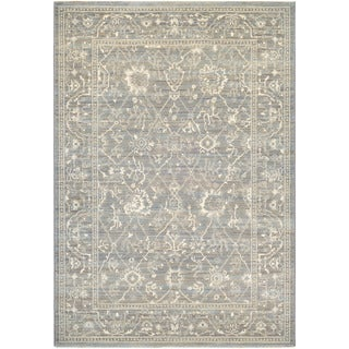 Couristan Everest Persian Arabesque/ Charcoal-ivory Rug (9' x 12')