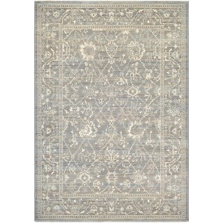"""Couristan Everest Persian Arabesque/ Charcoal-ivory Rug - 9'2"""" x 12'5"""""""