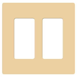Lutron Claro Seamless Two-gang Rocker Wallplates