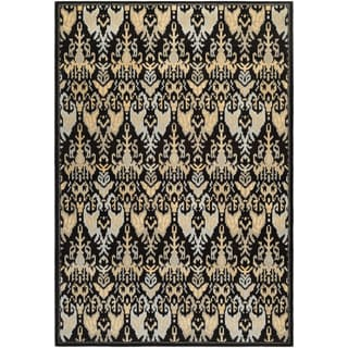 Couristan Everest Zion/ Black-teal Rug (9' x 12')