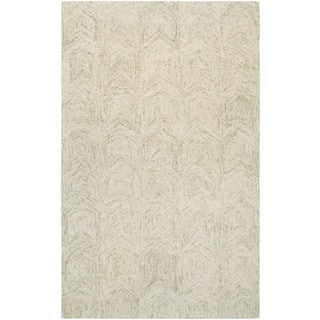 Couristan Graphite Chevron/ Ivory-sand Rug (9' x 13')