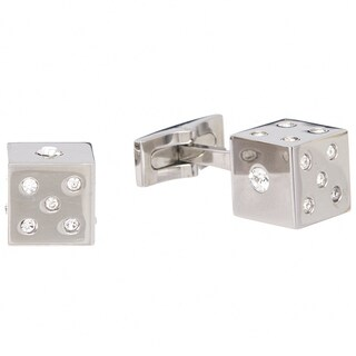 James Cavolini Stainless Steel Dice Cuff Links