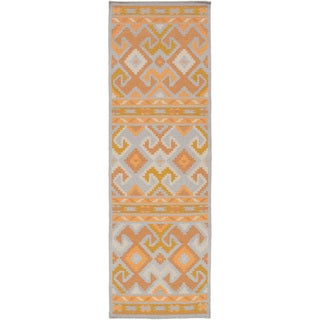 Hand-Woven Leah Southwestern Style Wool Rug (2'6 x 8')
