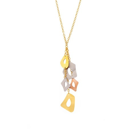 James Cavolini Tri-Tone Multi-Pendant Necklace - Multi