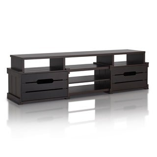 Furniture of America Laketon 72-inch Plank Style TV Console