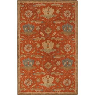 Hand-Tufted Naomi Floral New Zealand Wool Area Rug - 2' x 3'