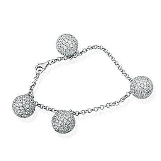 Suzy Levian Pave Cubic Zirconia Sterling Silver Bracelet