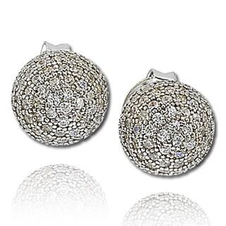 Suzy Levian Cubic Zirconia Sterling Silver Earrings